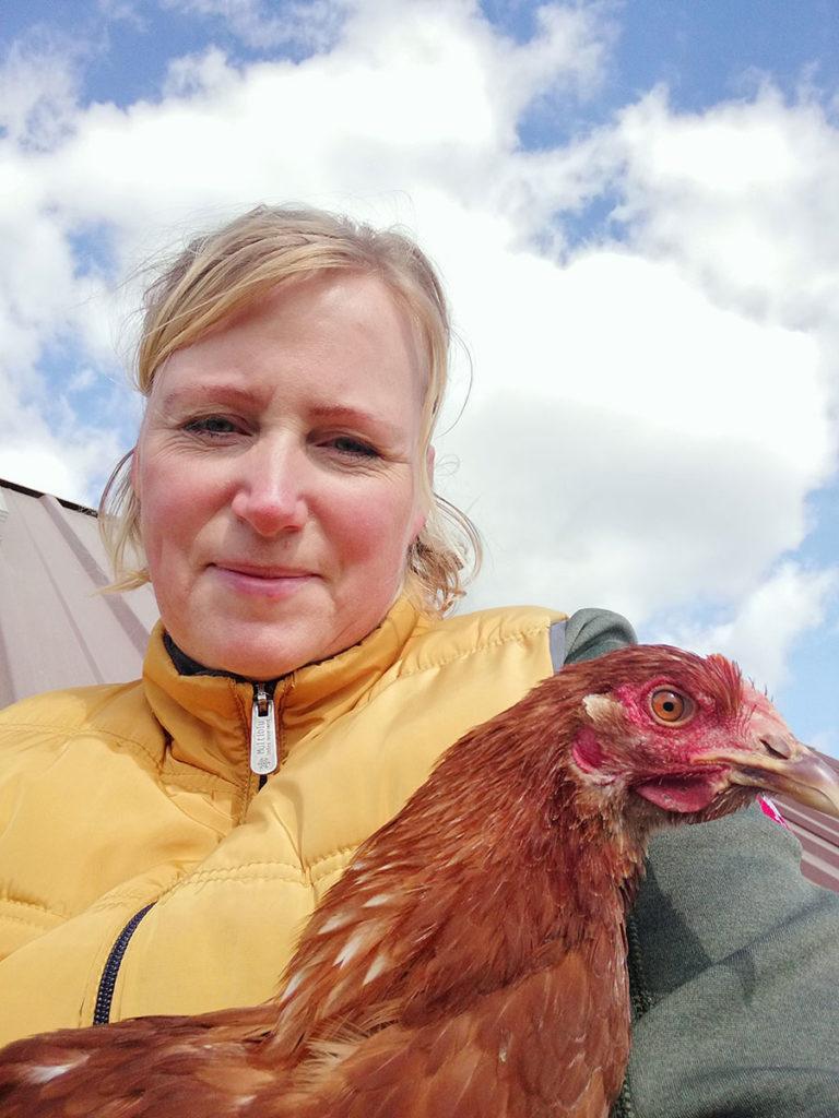 Frische Eier von Kuschel-Huhn Fufie